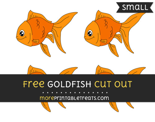 Free Goldfish Cut Out - Small Size Printable