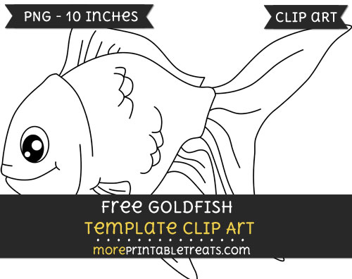 Free Goldfish Template - Clipart