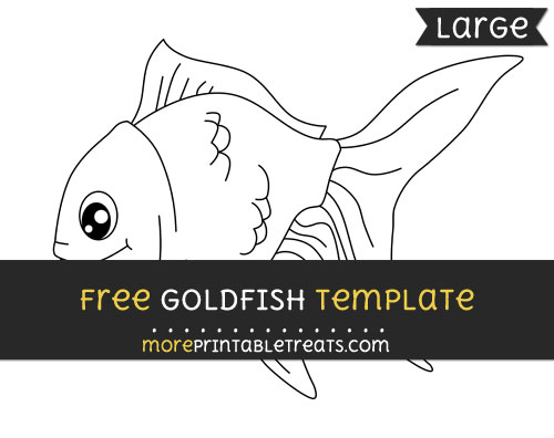 Free Goldfish Template - Large