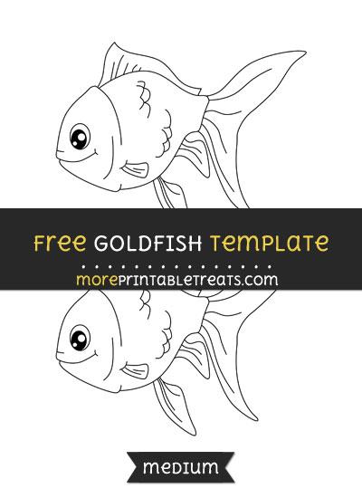 Free Goldfish Template - Medium