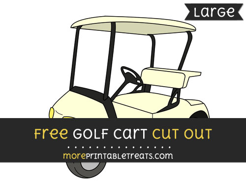 Free Golf Cart Cut Out - Large size printable