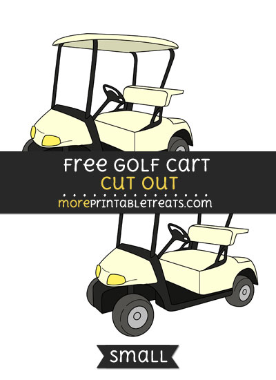 Free Golf Cart Cut Out - Medium Size Printable