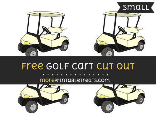 Free Golf Cart Cut Out - Small Size Printable