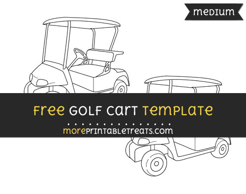 Free Golf Cart Template - Medium