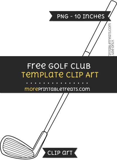 Free Golf Club Template - Clipart