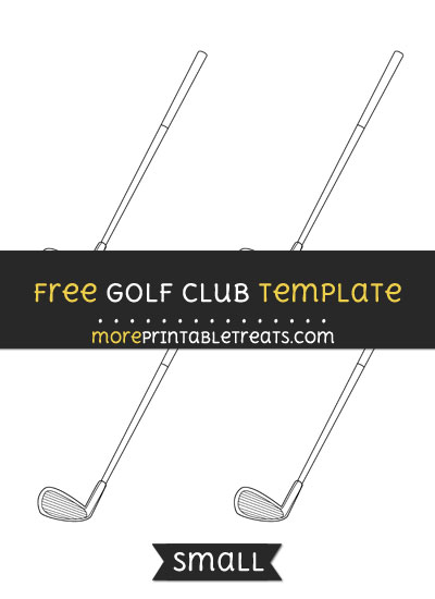 Free Golf Club Template - Small