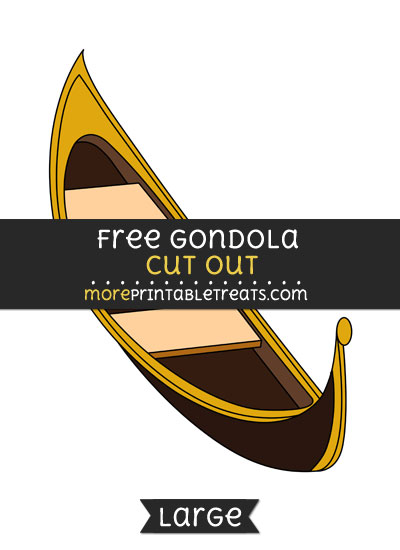 Free Gondola Cut Out - Large size printable