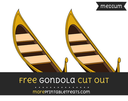 Free Gondola Cut Out - Medium Size Printable