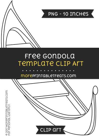 Free Gondola Template - Clipart