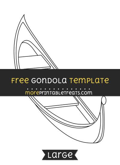 Free Gondola Template - Large