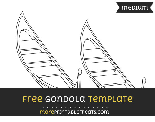 Free Gondola Template - Medium