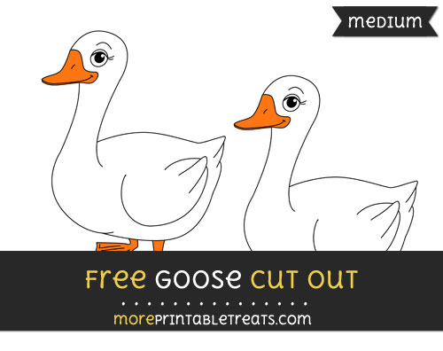 Free Goose Cut Out - Medium Size Printable
