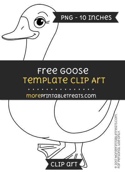 Free Goose Template - Clipart