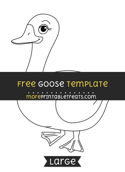 Free Goose Template - Large