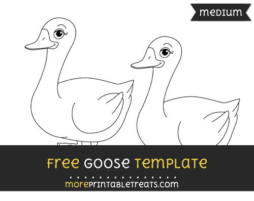 Free Goose Template - Medium