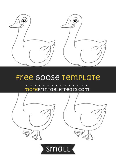 Free Goose Template - Small