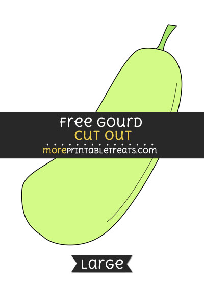 Free Gourd Cut Out - Large size printable