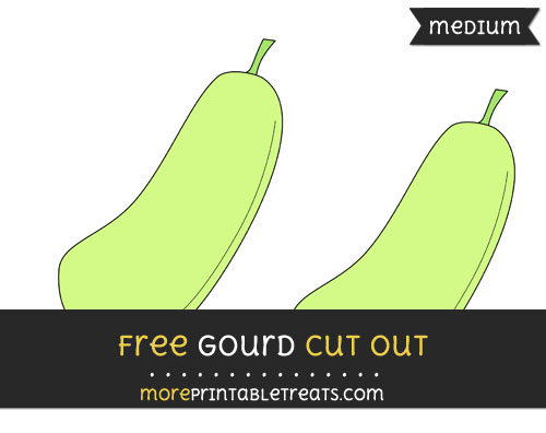 Free Gourd Cut Out - Medium Size Printable