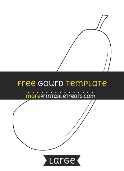 Free Gourd Template - Large