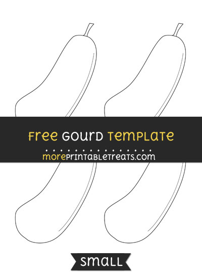 Free Gourd Template - Small