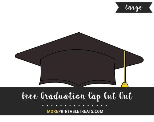 Free Graduation Cap Cut Out - Large