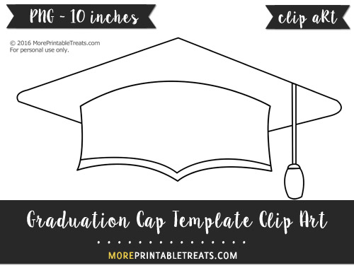 Free Graduation Cap Template - Clipart