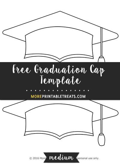 Free Graduation Cap Template - Medium
