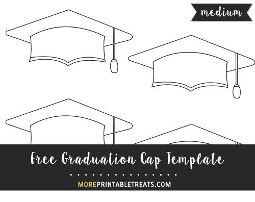 Free Graduation Cap Template - Small