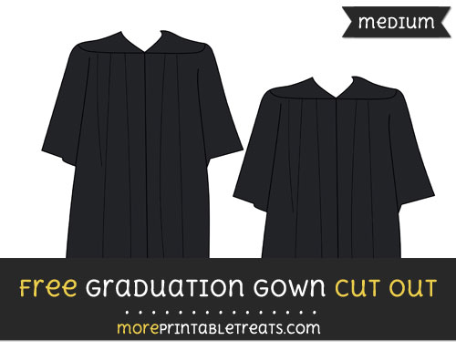 Free Graduation Gown Cut Out - Medium Size Printable