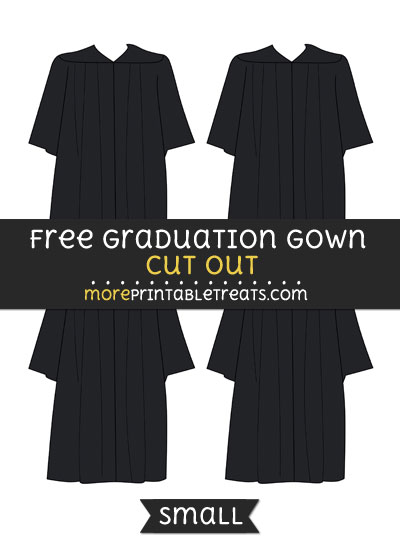 Free Graduation Gown Cut Out - Small Size Printable