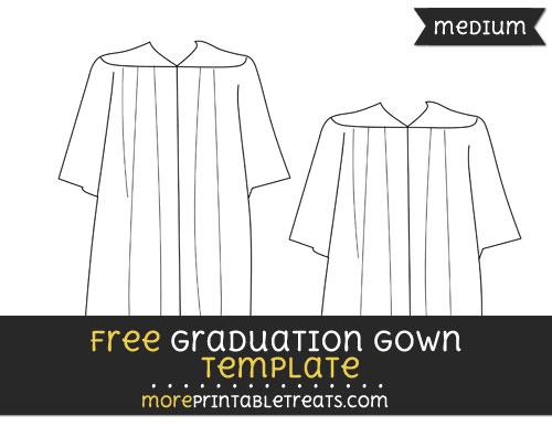 Free Graduation Gown Template - Medium