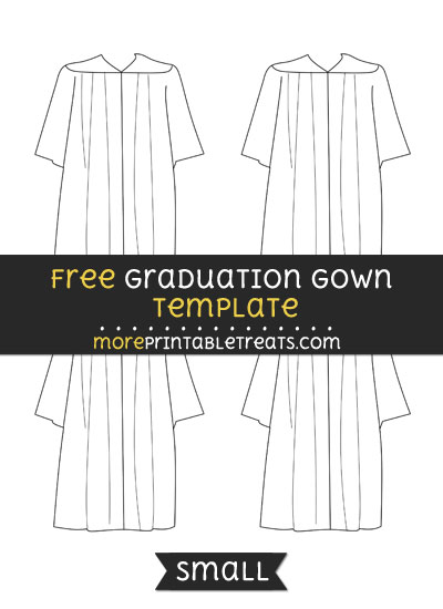 Free Graduation Gown Template - Small