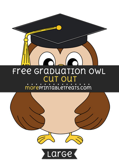 Free Graduation Owl Cut Out - Large size printable