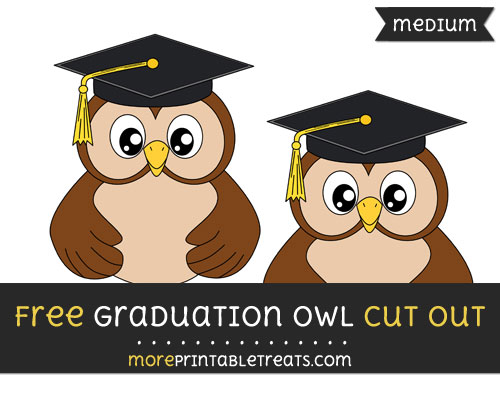 Free Graduation Owl Cut Out - Medium Size Printable