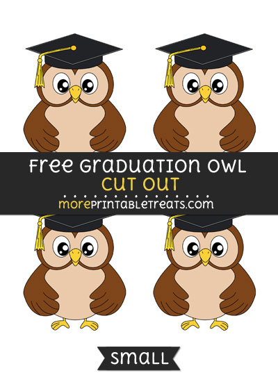 Free Graduation Owl Cut Out - Small Size Printable