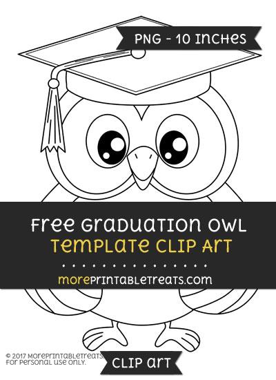 Free Graduation Owl Template - Clipart