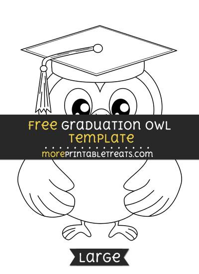 Free Graduation Owl Template - Large