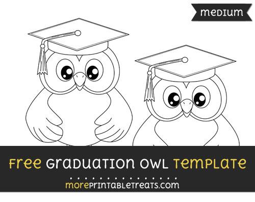 Free Graduation Owl Template - Medium