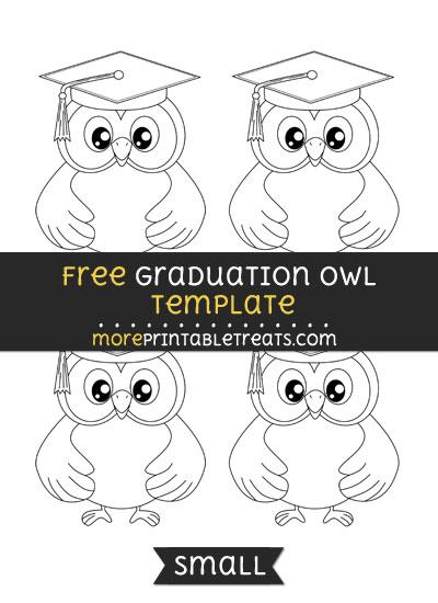 Free Graduation Owl Template - Small