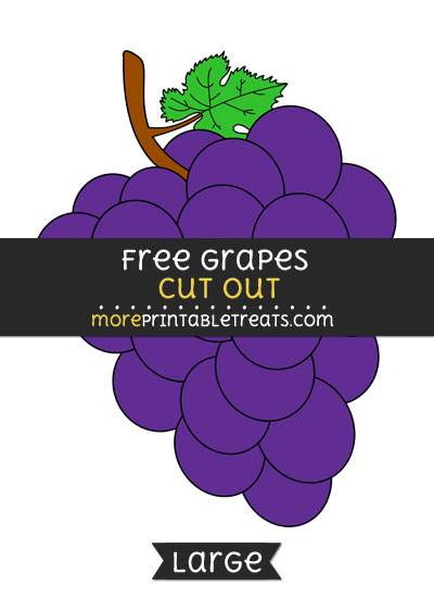 Free Grapes Cut Out - Large size printable