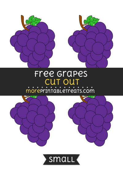 Free Grapes Cut Out - Small Size Printable