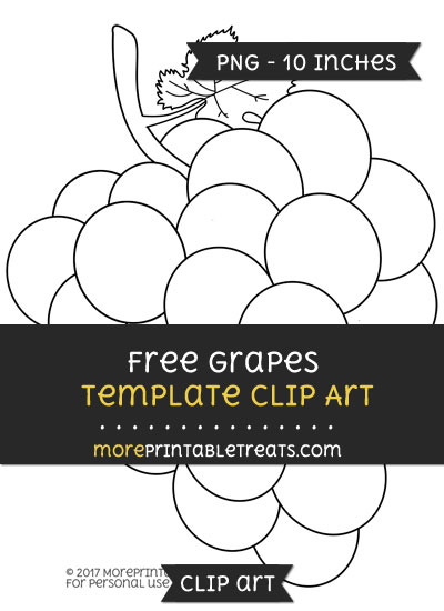 Free Grapes Template - Clipart