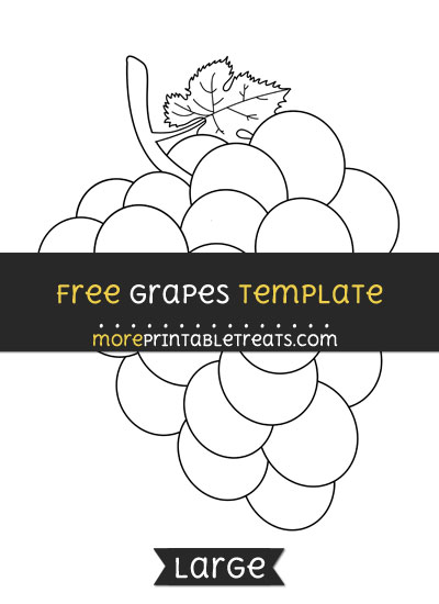 Free Grapes Template - Large
