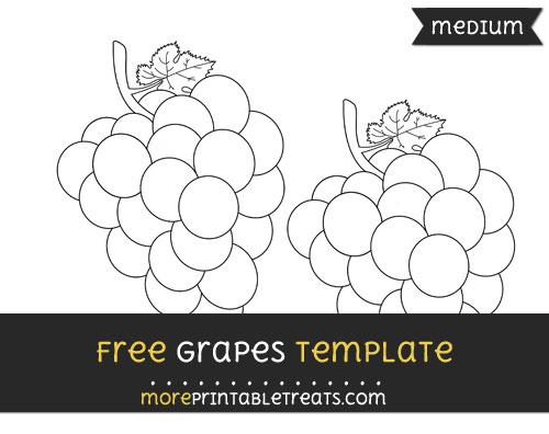 Free Grapes Template - Medium