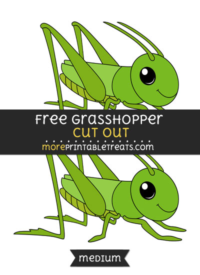 Free Grasshopper Cut Out - Medium Size Printable