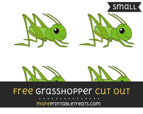 Free Grasshopper Cut Out - Small Size Printable