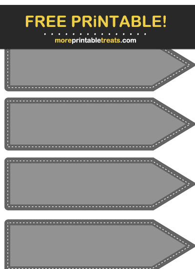 Free Printable Gray Arrow Flag Labels