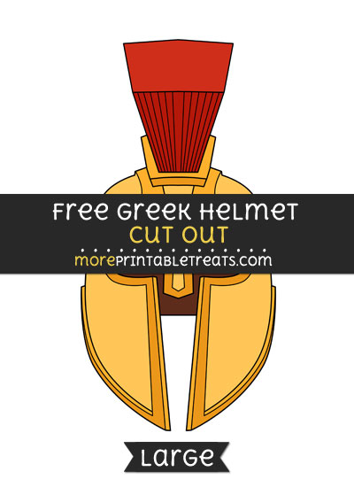 Free Greek Helmet Cut Out - Large size printable