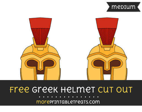 Free Greek Helmet Cut Out - Medium Size Printable