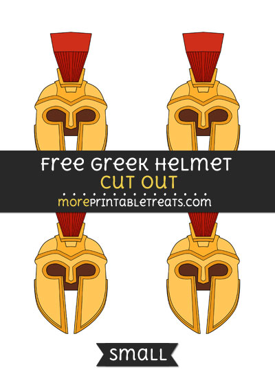 Free Greek Helmet Cut Out - Small Size Printable
